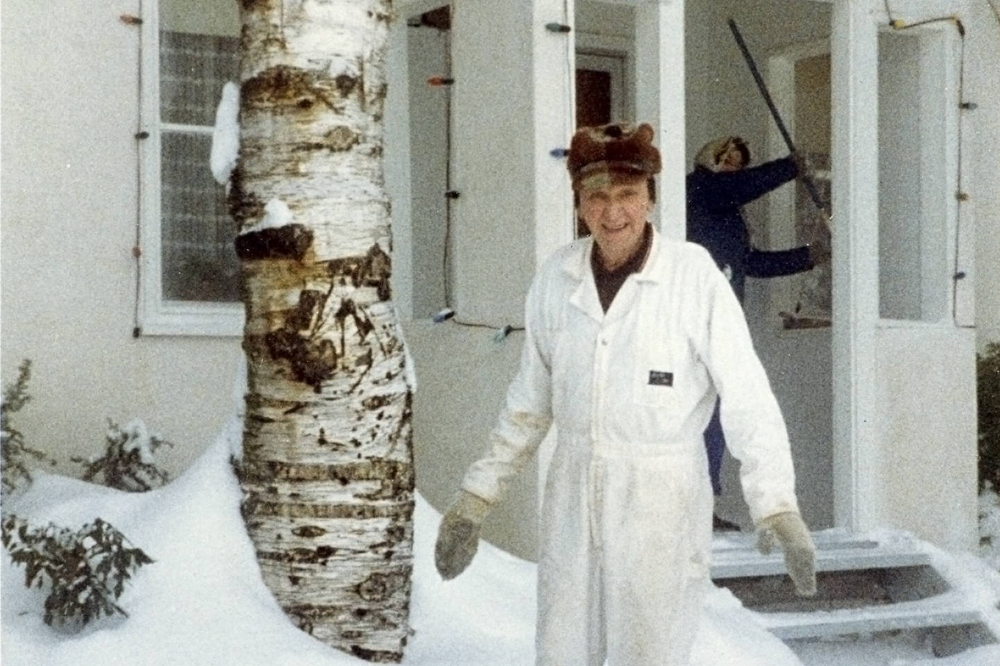 Someone doesn't mind the snow! Mike Bodner has a smile on his face in the winter of 1982. Bodner lived on Coronation Ave (7th St. SE). Mayor W.K Smith and council named the street to commemorate the crowning of Queen Elizabeth II in 1953. This image is from the John Coulton Collection and courtesy the Archives at R.J. Haney Heritage Village and Museum.